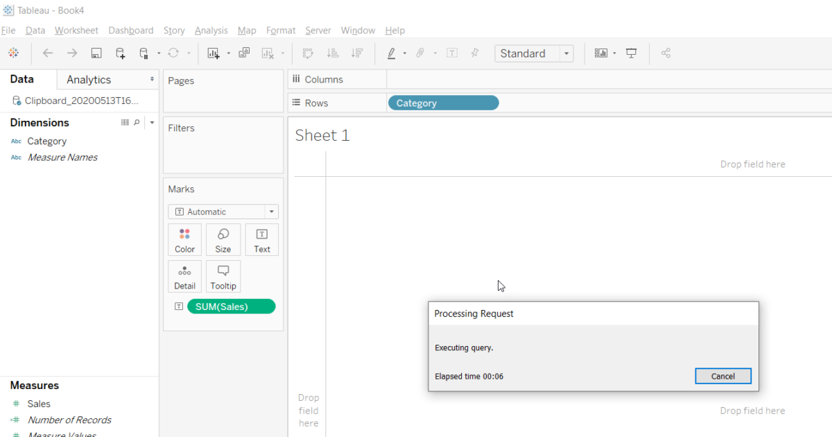 Tableau How To Create A Data Source From The Clipboard Excel Business Intelligence Online
